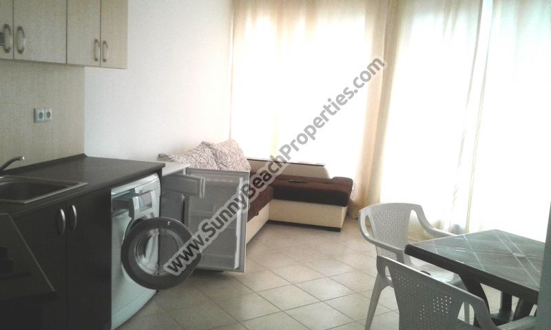 Mountain view furnished 1-bedroom apartment for sale in Admiral Plaza downtown Sunny beach and 100m. from the beach.