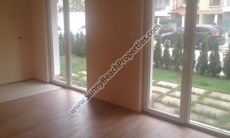 Luxury studio apartment with garden for sale in luxury Messembria Resort in tranquility 300 meters from the beach in Sunny beach, Bulgaria