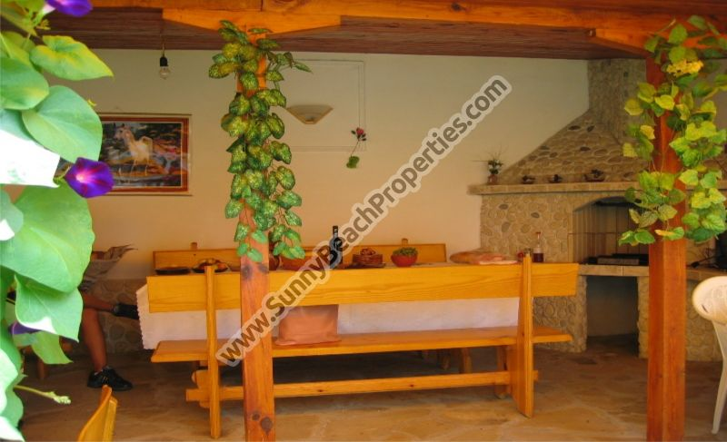 Furnished 6-bedroom/3-bathroom semi-detached house for sale with BBQ, 700m from beach in Aheloy, Bulgaria
