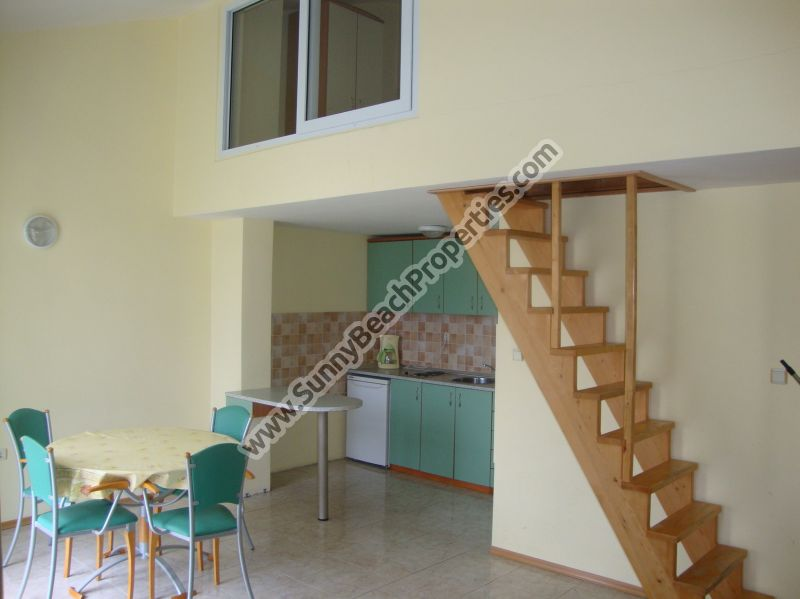 Fully furnished 2-level 3-bedroom/2bathroom flat for sale in Elite 1, 150m. from beach in Sunny beach, Bulgaria