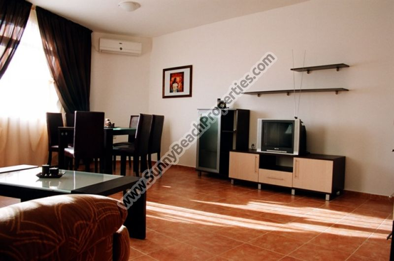 Pool view furnished 2-bedroom apartment for sale in Kasandra, 500m from beach Sunny beach, Bulgaria