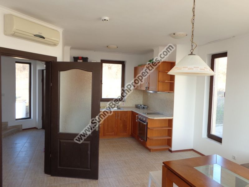 Sea view furnished 2-bedroom/2-bathroom maisonette apartment for sale in Bay view villas only 4 km. from the beach!