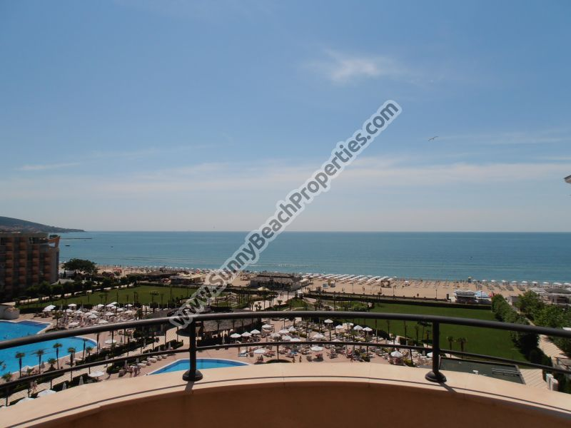 Beachfront stunning sea view furnished 1-bedroom apartment  for sale in breath-taking luxury 4**** Majestic right on the beach of Sunny beach.