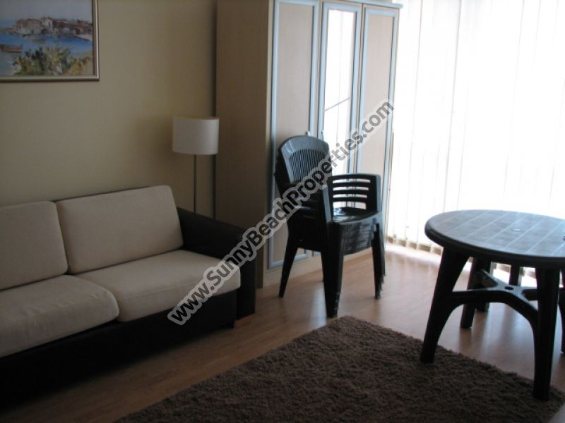 Studio apartment for rent in beachfront Riviera Fort Beach 20m. from the beach in Ravda, Bulgaria