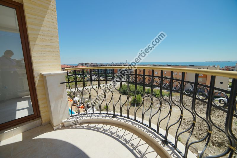 Stunning sea view luxury 2-bedroom/1.5-bathroom apartment for sale in luxury Harmony Suites 10 Saint Vlas, Bulgaria