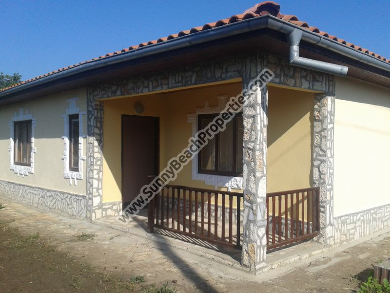 New fully furnished 2-bedroom house in nice and tranquil village 3 km from Balchik.