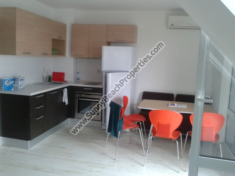 Furnished studio apartment for sale in complex Blue Sky 50m from beach in Saint Vlas Bulgaria