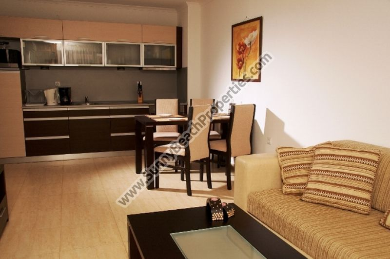 Beachfront sea view 2-bedroom apartments for rent 20-100m. from the beach in Saint Vlas, Bulgaria