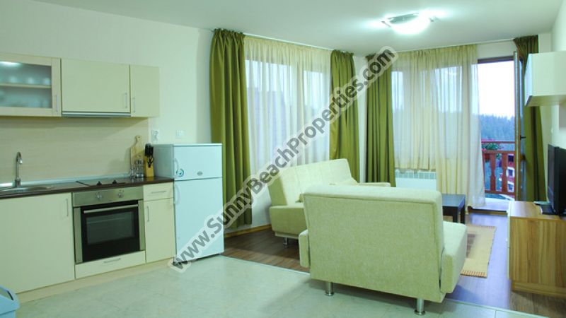 1-bedroom ski apartments 600m. from the ski lift in Pamporovo ski resort, Bulgaria