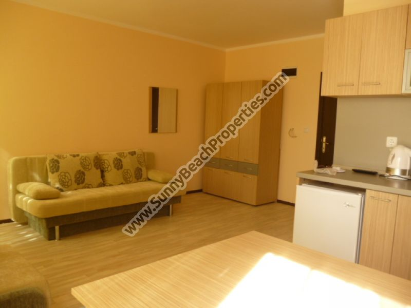 Furnished studio apartment for sale in complex Saint Nicola, 1.5 km from the beach in Sunny beach, Bulgaria