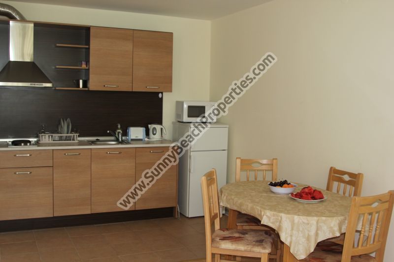 533€/m2! Furnished 1-bedroom apartment in Nessebar Fort Club 800m. from beach, 500m. from downtown Sunny beach
