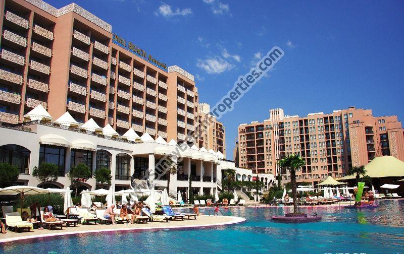 Studios for rent in 5 ***** Royal Beach Barcelo downtown Sunny beach, Bulgaria, 50m from the beach