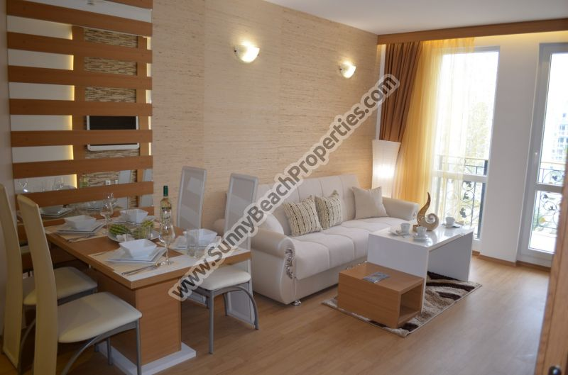 Park view fully furnished 1-bedroom flat de lux in Sweet Homes 1 in the central part of Sunny beach.