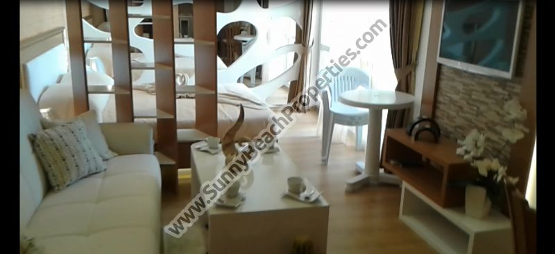 Pool  view luxury fully furnished Studio apartment for sale in enclosed luxury complex Sweet Homes 2  absolutely tranquil area in the central part of Sunny beach.