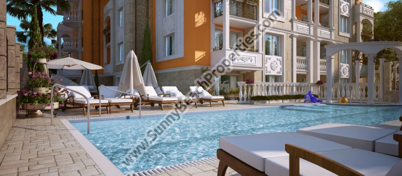 Studios, 1BR &  2BR flats de lux  in the central part of Sunny beach, 400m. from beach