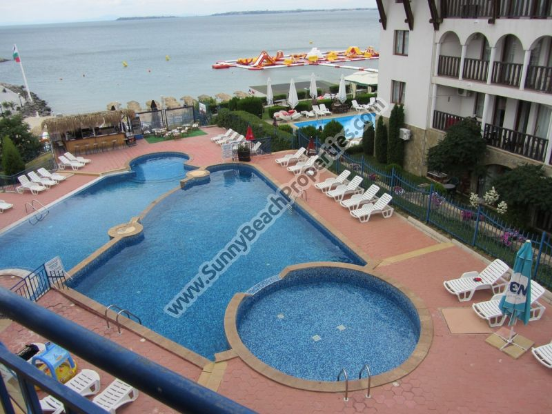 Beachfront  furnished 2-bedroom/1.5bathroom apartment for sale in Vega Village on the beach in Sveti Vlas, Bulgaria