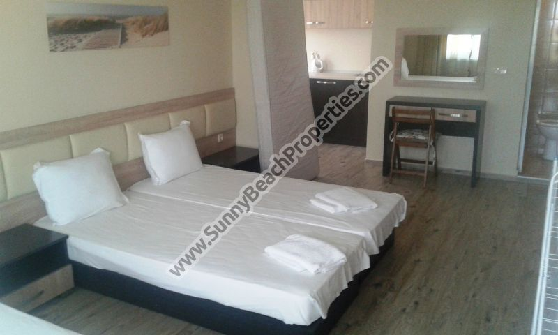 Furnished studio apartment 2+1 for rent in absolute tranquility in the center of Ravda, Bulgaria, 400m from the beach