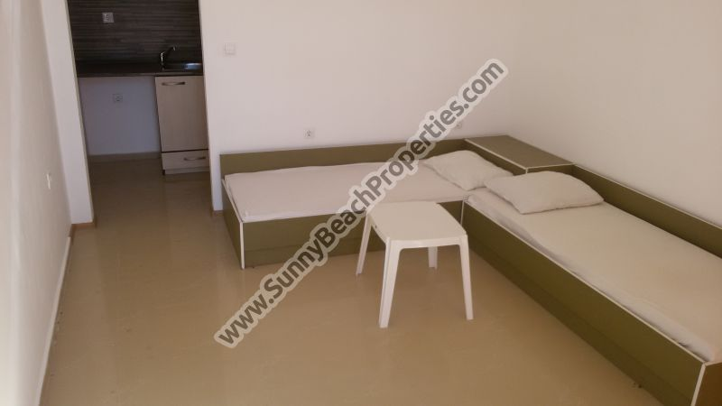 Furnished studio apartment for sale in complex Passat, 400m. from the beach in Sunny beach resort, Bulgaria