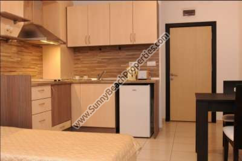 2 studios (2adults+1child) for rent in Admiral Plaza downtown Sunny beach and 100m. from the beach.