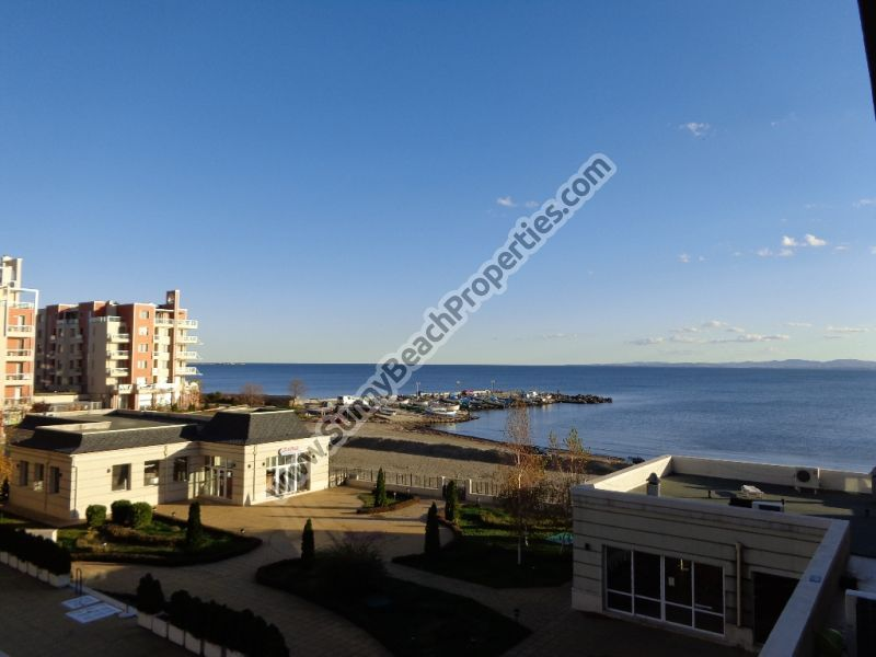 Superb sea and pool view furnished studio in 4**** aparthotel Festa Pomorie Resort, Bulgaria