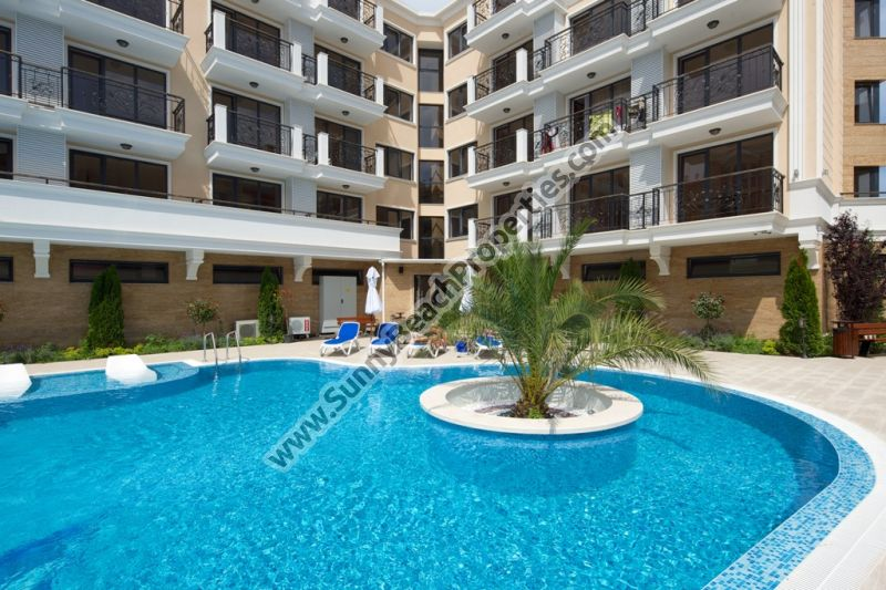 2-bedroom apartments for sale in luxury Villa Valencia 400m. from the beach in Sunny beach, Bulgaria