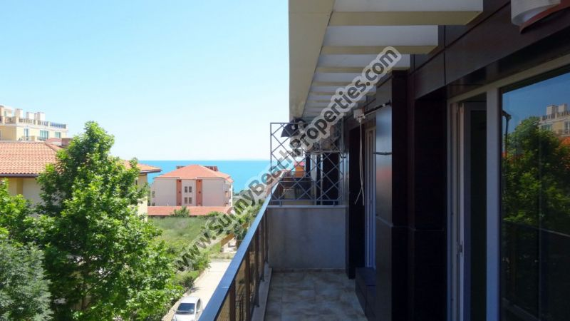 Sea view 1-bedroom apartment for sale in complex  Villa Aristo, 100m. from the beach in Sveti Vlas, Bulgaria