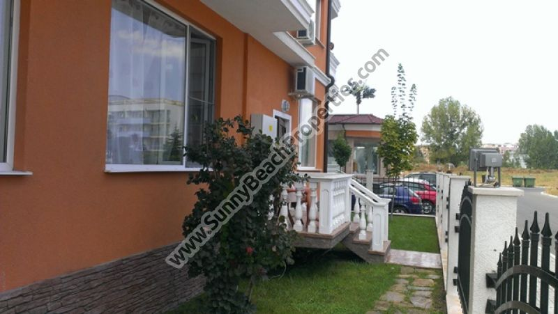 Furnished studio apartment with porch for sale in Sea Diamond , 500m. from beach in Sunny beach.