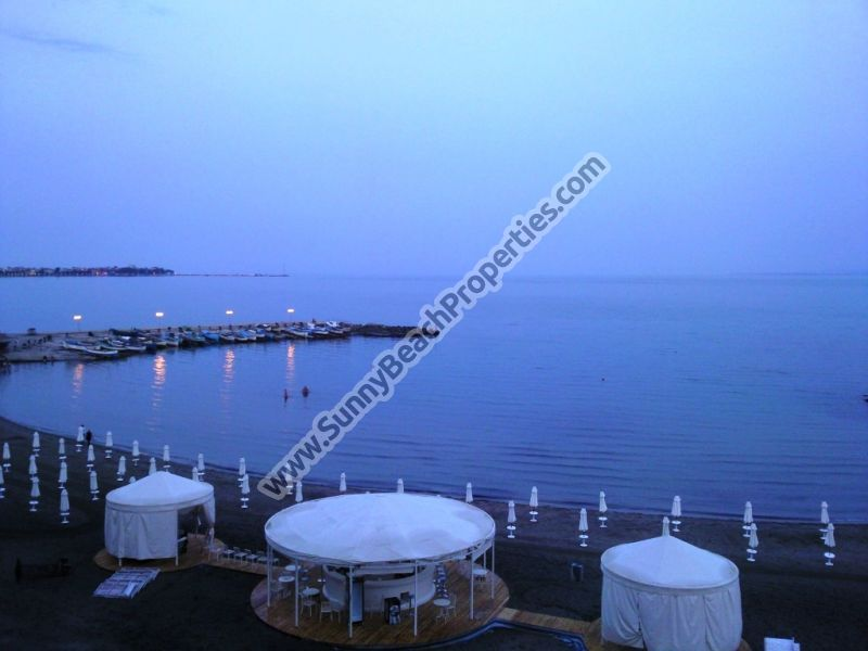Beachfront sea view  furnished 1-bedroom apartment  for sale in 4**** aparthotel Festa Pomorie Resort