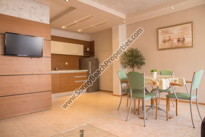Luxury pool view 2-bedroom/1.5bathroom apartment 150m. from the beach in Sunny beach, Bulgaria