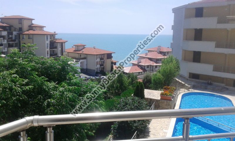 Sea & pool view furnished 1-bedroom apartment for sale in Galateya complex 200 meters from the beach in Saint Vlas /Sveti Vlas/, Bulgaria