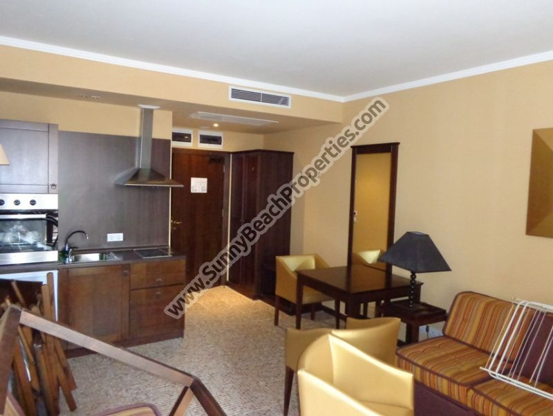 Park view 1-bedroom apartment for sale  in 5***** Royal Beach Barcelo apart-hotel downtown Sunny beach, 50. m. from the beach