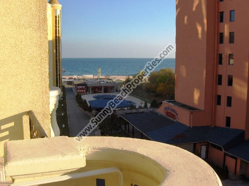 2 fully furnished sea view one-bedroom apartments in Victoria residence part of 5+**** Victoria Palace  50 m. from the sandy beach in Sunny beach