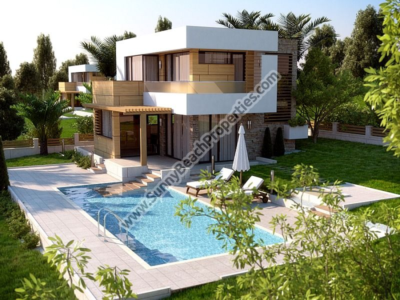 Luxury 2-bedroom detached houses for sale in villa complex  6km from the beach in Sunny beach