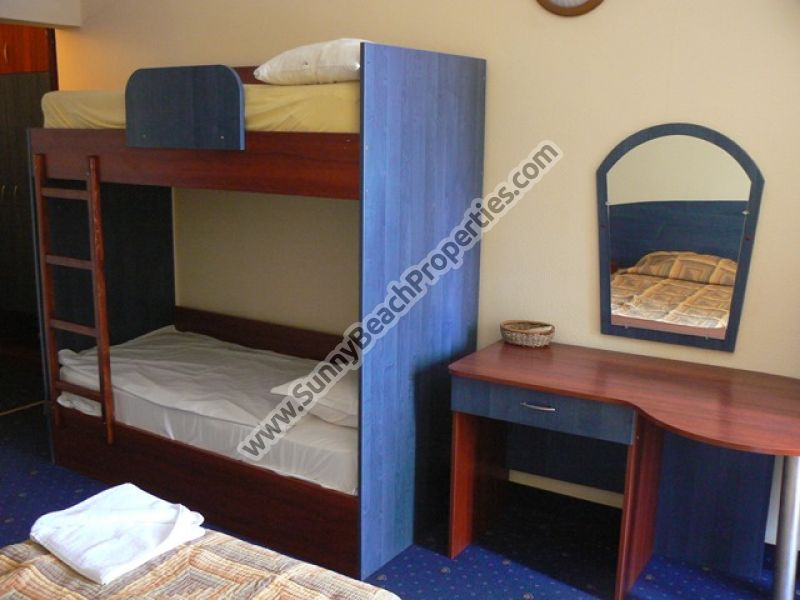 Furnished studio 2+2 in aparthotel Central downtown Sunny beach and 100 m. from the beach