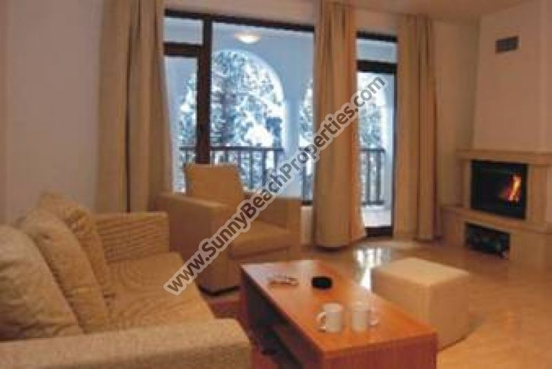 1-bedroom apartments with fire-place in Monastery 3 only 60 m. from the ski runs in Pamporovo ski resort.