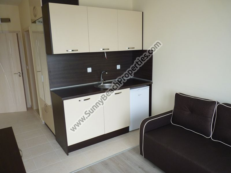Furnished studio apartment for sale in residential building with no maintenance Ravda Park in Ravda, Bulgaria