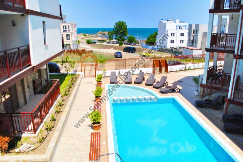 Beachfront Sea view studio for sale in complex Mojito Club only 70 m. from the beach in Lozenets, Bulgaria
