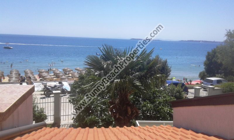 Beachfront sea view 2-bedroom/3-bathroom villa for rent 20 m. from the beach in St. Vlas