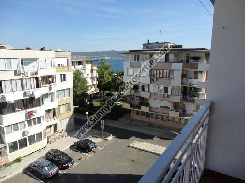 Sea view 1-bedroom apartment for sale in residential building in the center of Nessebar, Bulgaria