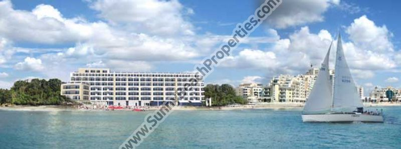 Stunning beachfront sea view flats de lux in 4**** year-round apartcomplex Penelope Palace on the beach in Pomorie