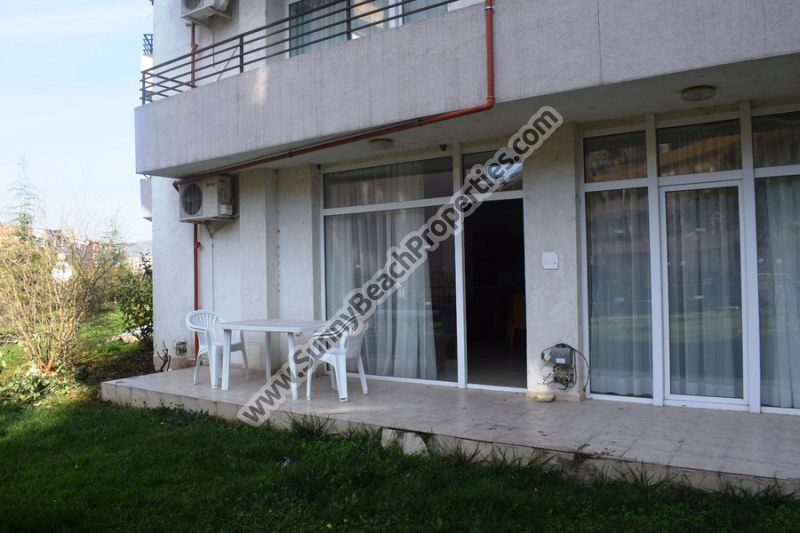 Furnished 2-bedroom/2-bathroom apartment for sale in Sun Village in the central part of Sunny beach, 600m from the beach