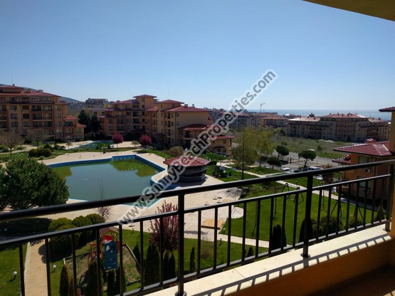 Sea & pool view furnished 3-bedroom/2-bathroom apartment for sale in Magic Dreams 250m from beach, Sveti  Vlas, Bulgaria