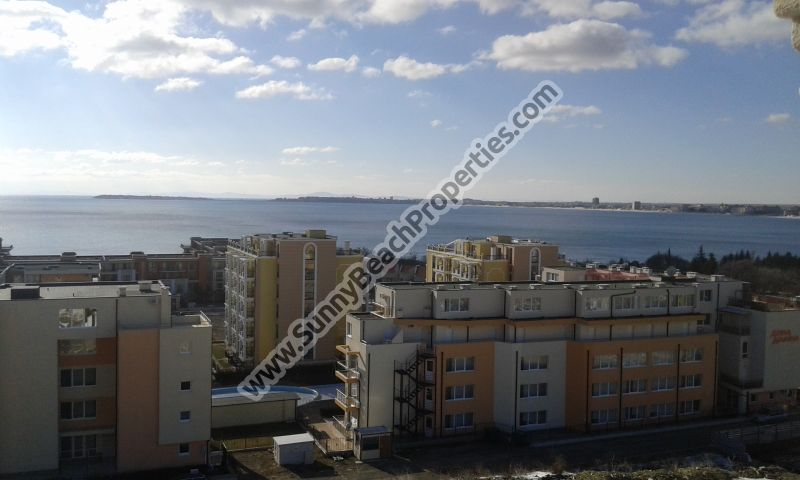 Stunning sea § mountain view luxury 2-bedroom/2-bathroom penthouse apartment for sale in luxury Harmony Suites 10 Saint Vlas, Bulgaria