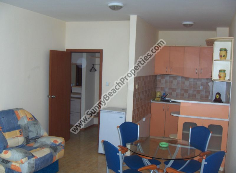 Fully furnished 1-bedroom apartment for sale in Elite 1, 150m. from the beach in Sunny beach, Bulgaria
