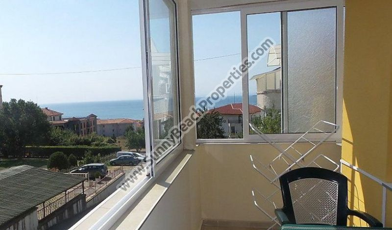 Sea view furnished 1-bedroom apartment for sale in Villa Marina 250m. from the beach in Sveti Vlas, Bulgaria