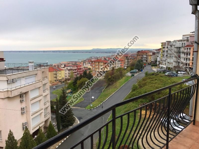 Sea view & mountain view furnised 1-bedroom apartment in residential building for sale 600m from beach, Sveti Vlas, Bulgaria