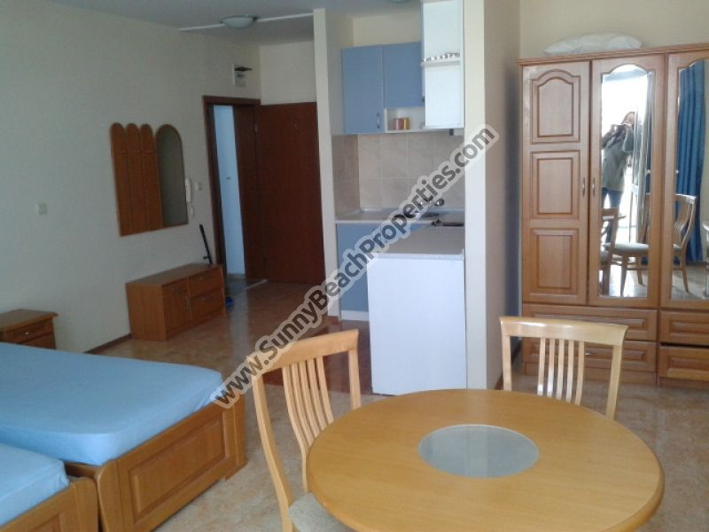 Furnished spacious studio apartment for sale in Elite IV, 350m. from the beach in Sunny beach, Bulgaria