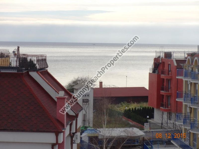 Sea view furnished 1-bedroom apartment for sale in Mellia Botique 5 in Ravda, 70m. from beach
