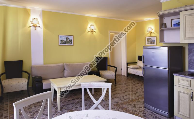 Sea view two-bedroom apartment for rent in Victoria residence part of 5+**** Victoria Palace  50 m. from the sandy beach in Sunny beach