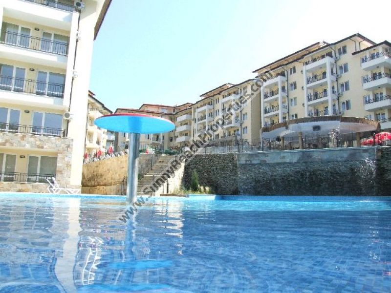 Pool view fully furnished resale 2-bedroom apartment in Sunny Beach hills just 250m. from the beach in Sunny Beach.
